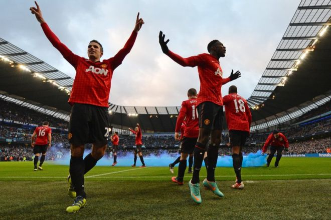 2012-2013: Manchester United won their 20th league title.  Cr. <warp>www.bbc.co.uk/newsround/22264796</warp>